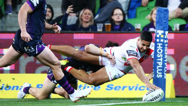 Nene Macdonald scored one of the tries of the season at AAMI Park.. (Photo by Michael Dodge/Getty Images)