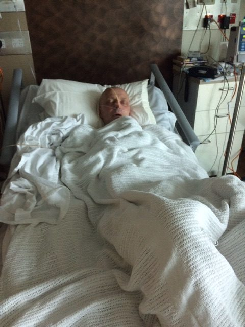 Robert has been in hospital for the past seven weeks. Photo: Contributed.