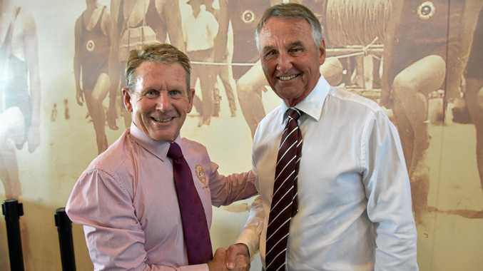 SEASON AHEAD: NHSLSC President Ross Fisher and newly appointed Club Patron Garth Madill.