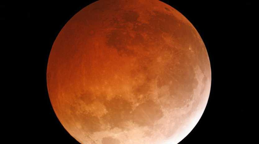 Partial lunar eclipse taken from central USA on 10/4/2014. Taken through an 8