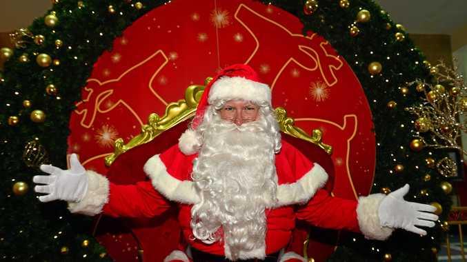 Santa Claus at Sunshine Plaza .