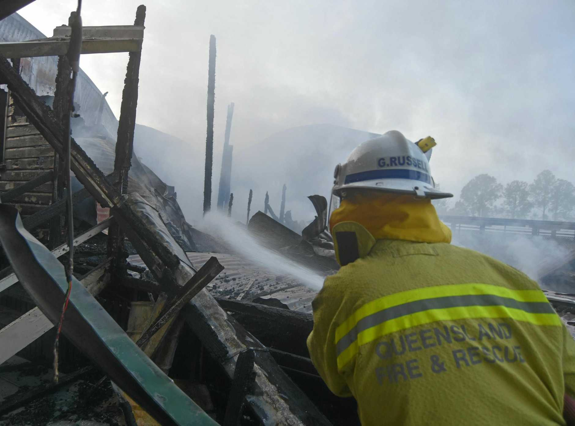 FIRE: A fire destroyed part of One Mile State Primary School overnight on Wednesday.