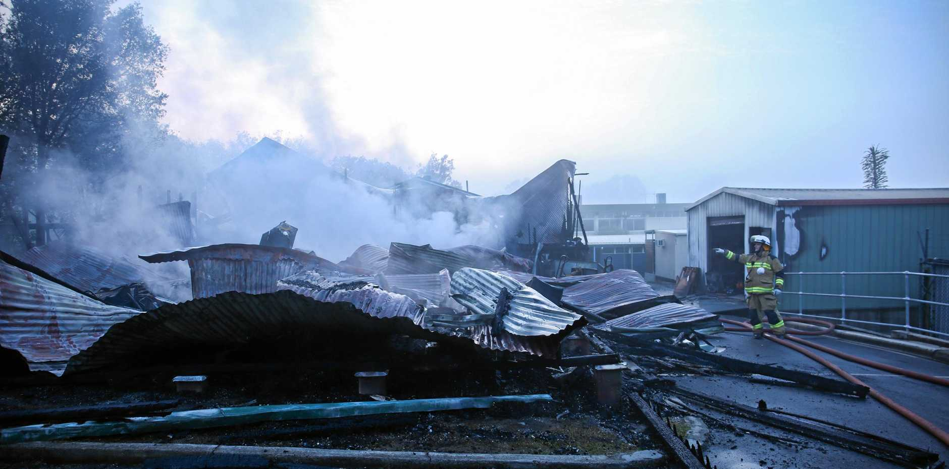 The aftermath of the fire that tore through One Mile State School in June last year.