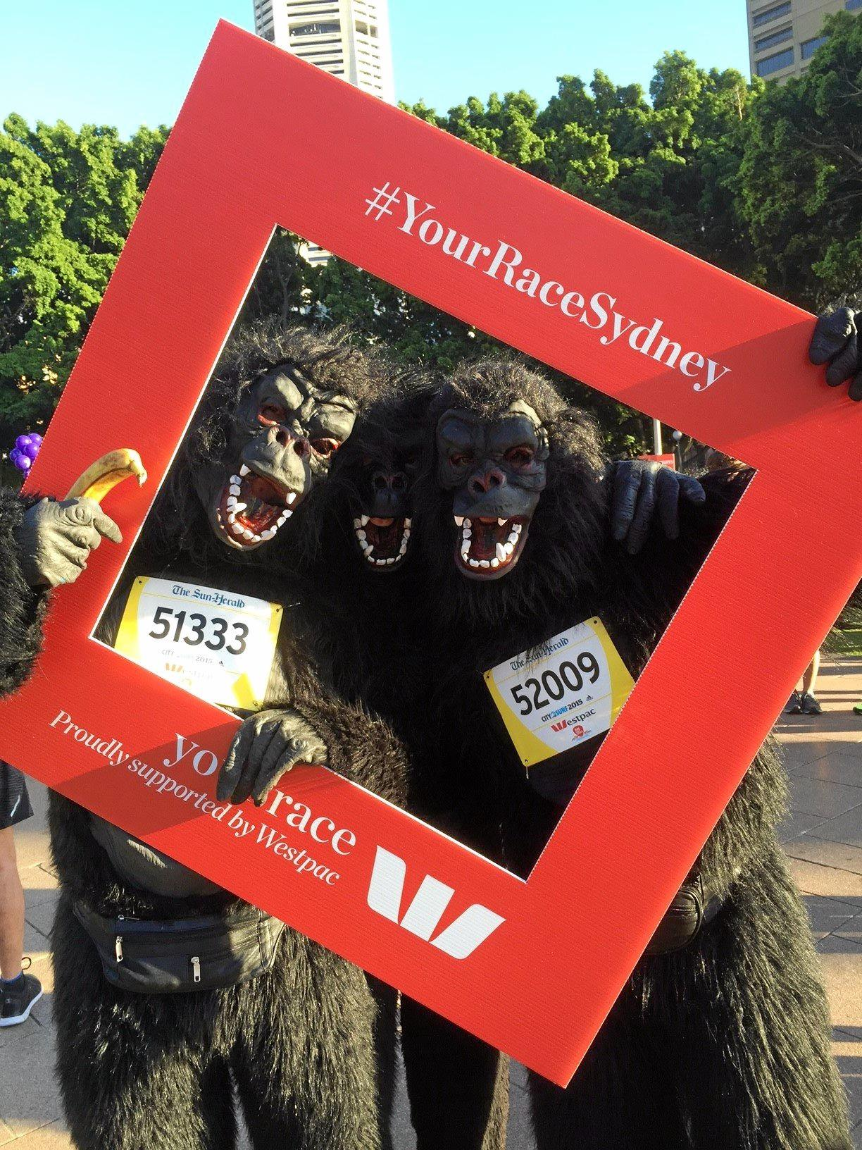 This is the 33rd year the Gorillas have run in the City 2 Surf.