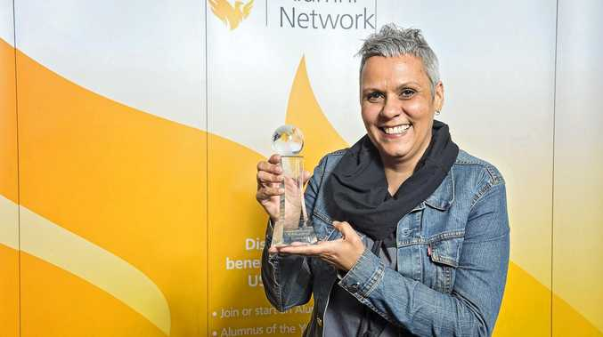RESPECT: Dr Odette Best when she won an ward for indigenous service.