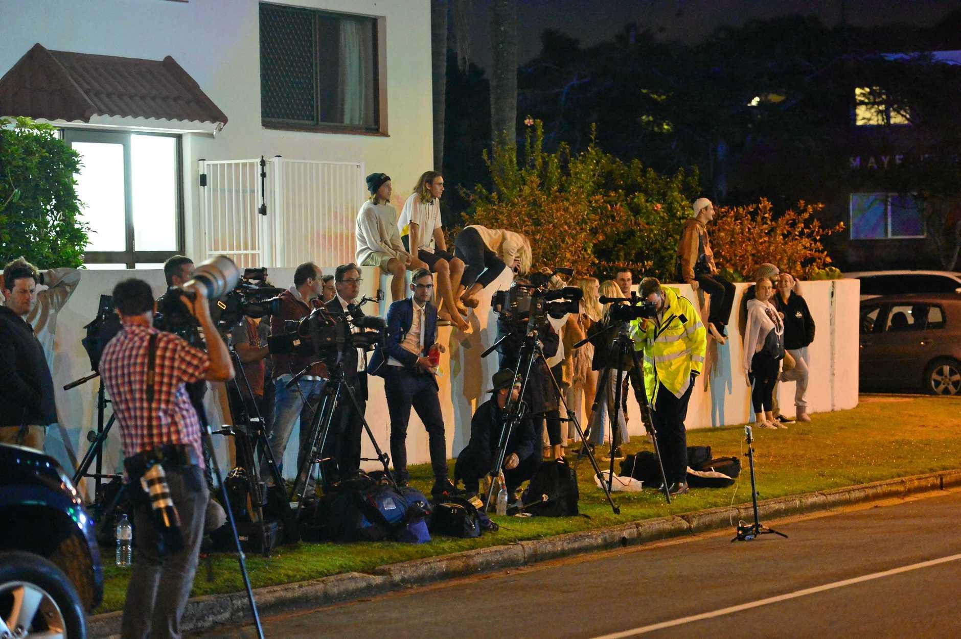 Zlatko Sikorsky Juan Street in Alexandra Headland in lock-down as police negotiate.