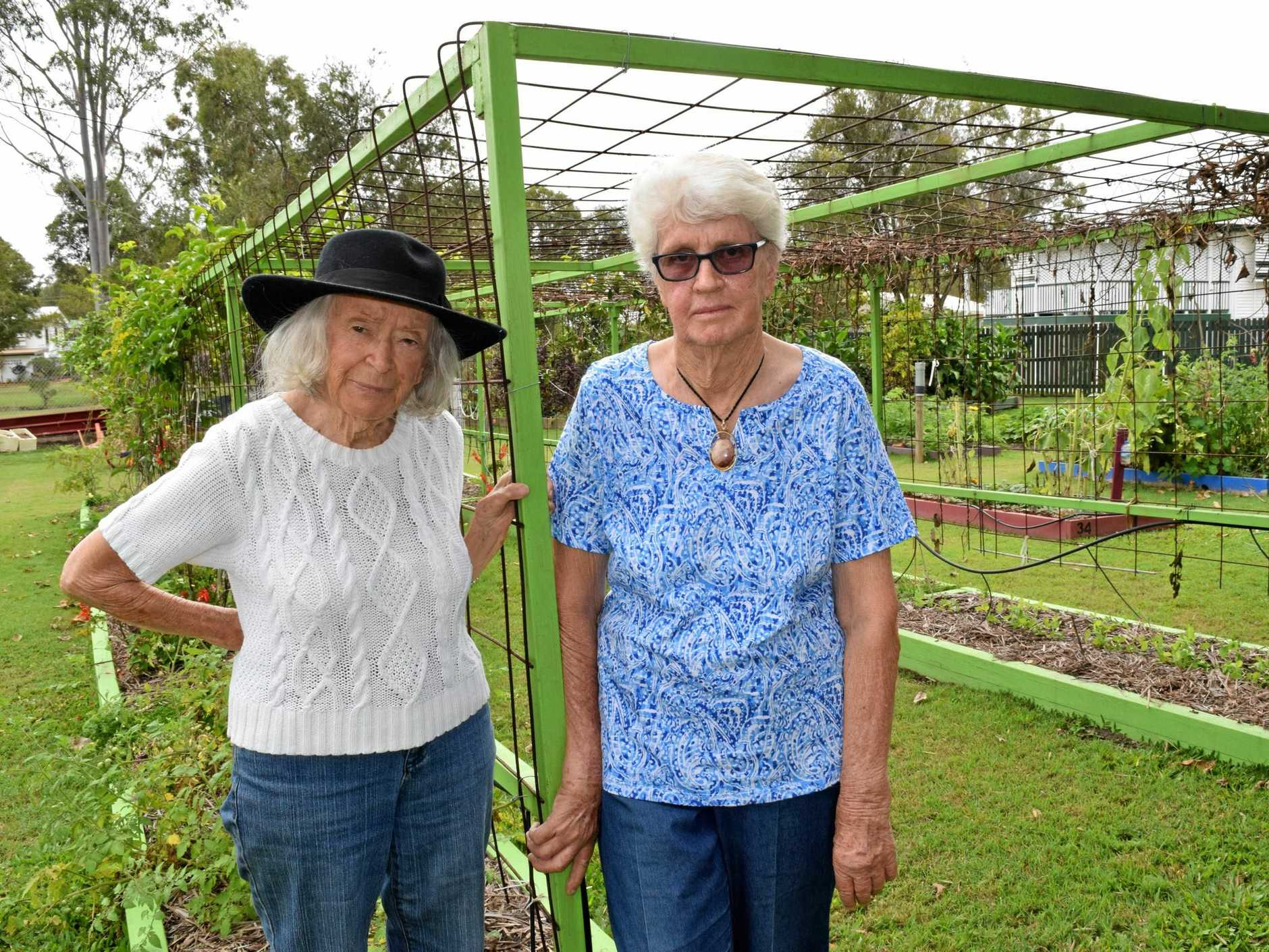 GARDENER'S WOES: Lupton Park Community Garden committee members Freda McLintock and Dot Leitner fear the garden may close because the committee is unable to afford a recent rates bill.