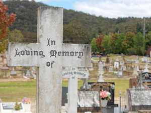Unlikely cemetery visitors milk chance for time out