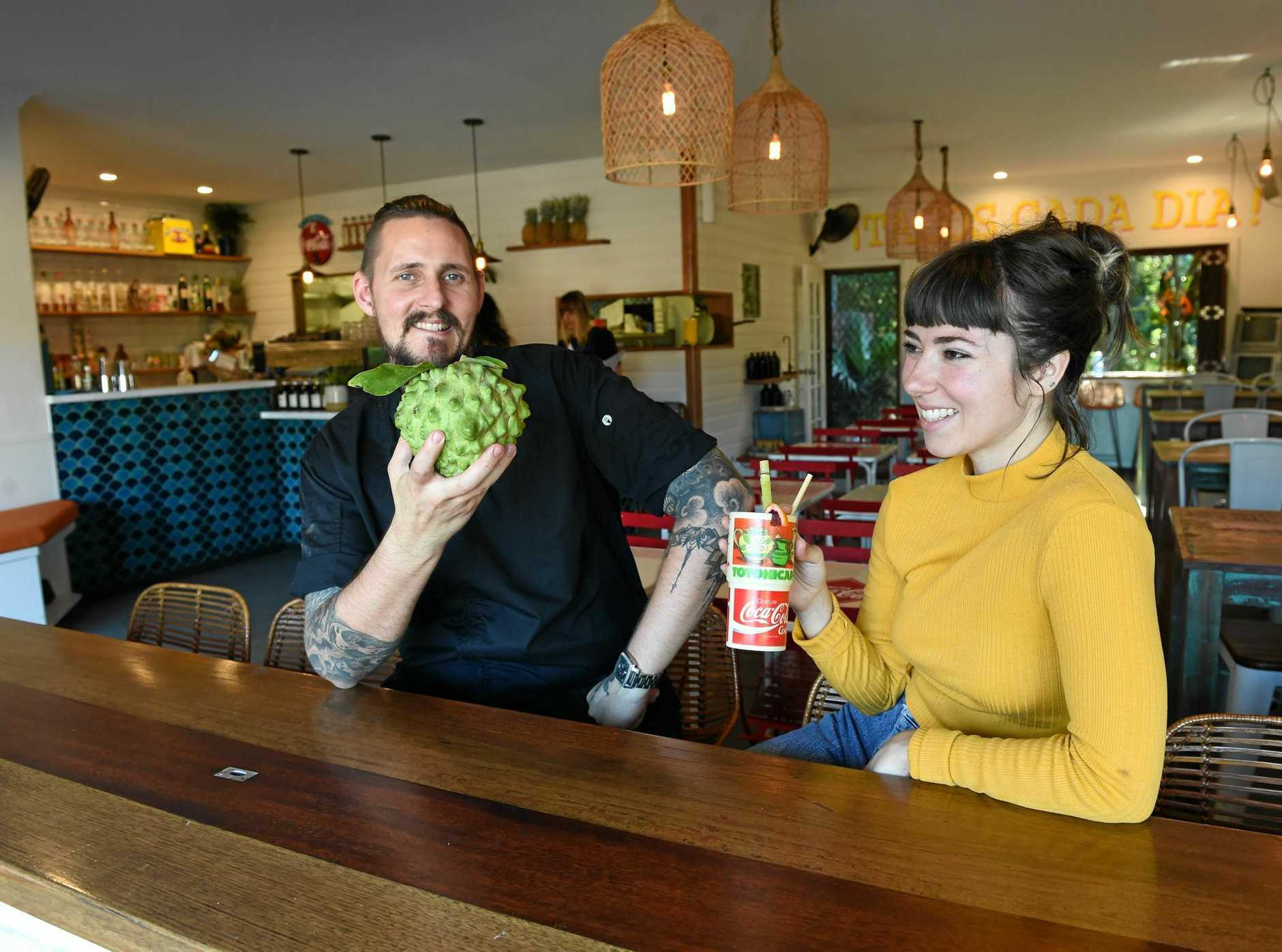 Chef Evan White and his partner Amelia Stokes have launched Chupacabra in Suffolk Park.
