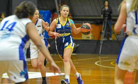 Port City Power Women's Caralie Wilson in action against the Cairns Dolphins.
