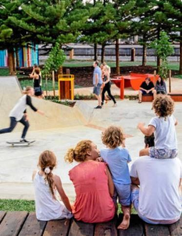 The concept plan for the new youth precinct includes paths for skaters and scooter riders.