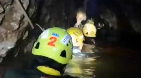 Rescuers are battling tough conditions to save the Thai soccer team. Picture: ITVNews