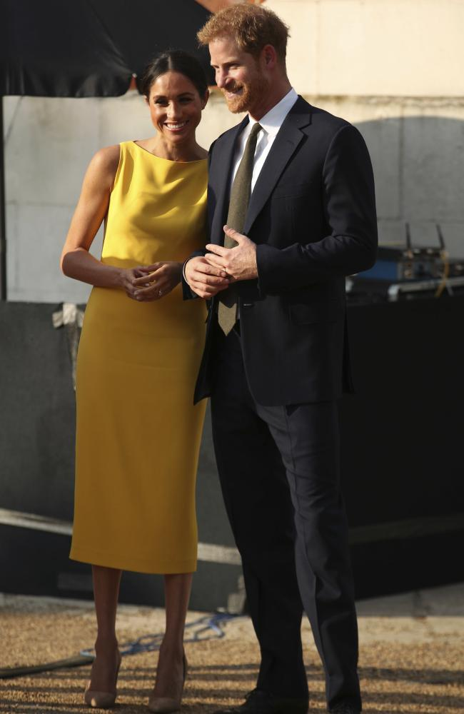 The couple appeared relaxed and happy. Picture: Yui Mok/Pool Photo via AP