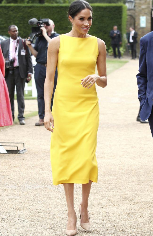 Meghan's look was effortlessly chic. Picture: Yui Mok/Pool Photo via AP