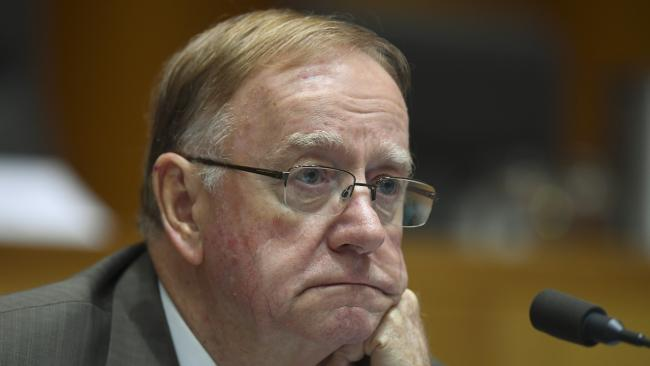 """Liberal Senator Ian Macdonald, """"the septuagenarian grouch from Townsville"""", appears to have outstayed his welcome. Picture: AAP/Lukas Coch"""