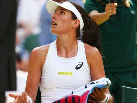Johanna Konta destroyed by Dominica Cibulkova, Kyle Edmund wins at Wimbledon