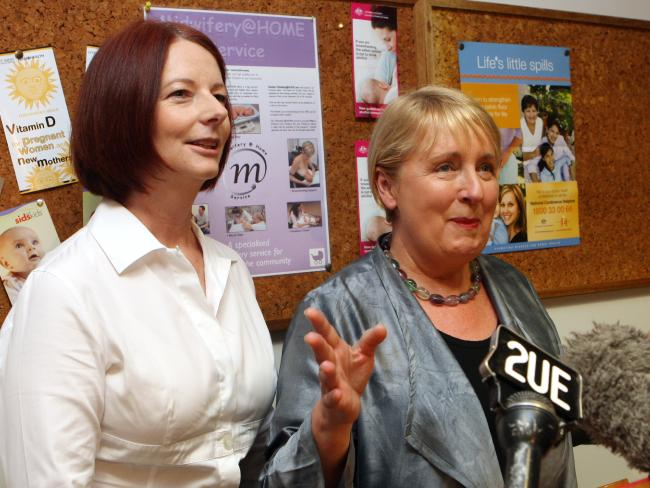 Jenny Macklin (right) with then PM Julia Gillard in 2011.