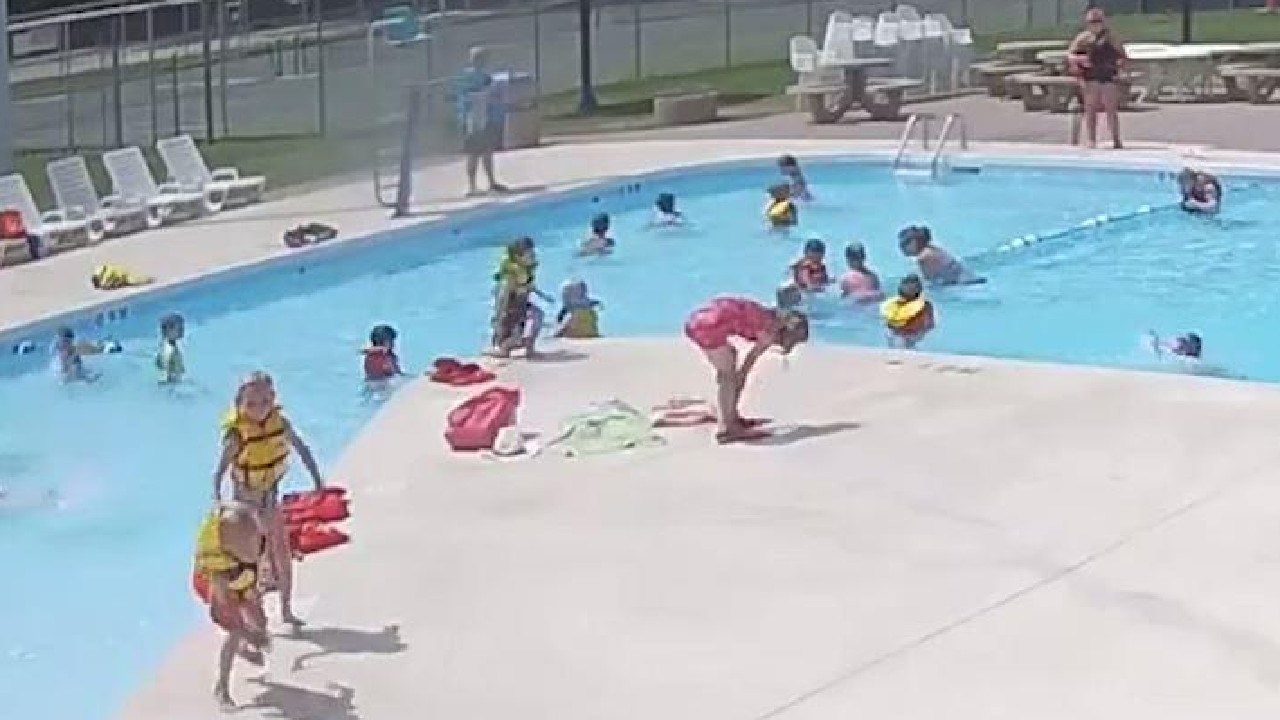 Can you spot the drowning boy?