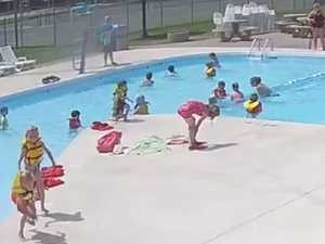 RUSH HOUR: Swimmers oblivious to drowning boy