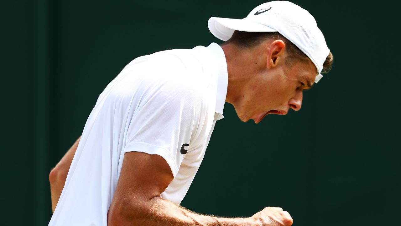 Alex De Minaur next faces Rafael Nadal at Wimbledon. Picture: Getty.