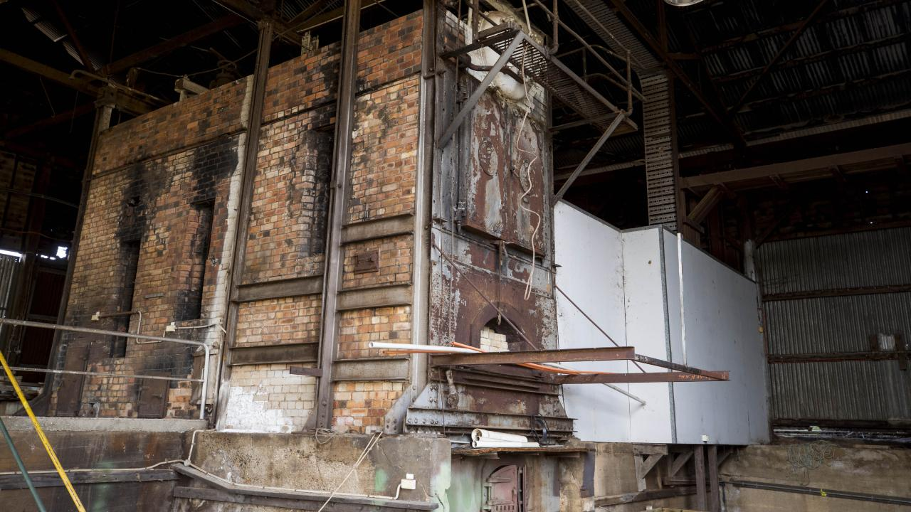 Remains of one of two original boilers inside the sawmill at Allies Creek. Picture: Lachie Millard