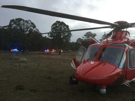 The woman was airlifted to Brisbane with life-threatening injuries. Photo: Contributed.