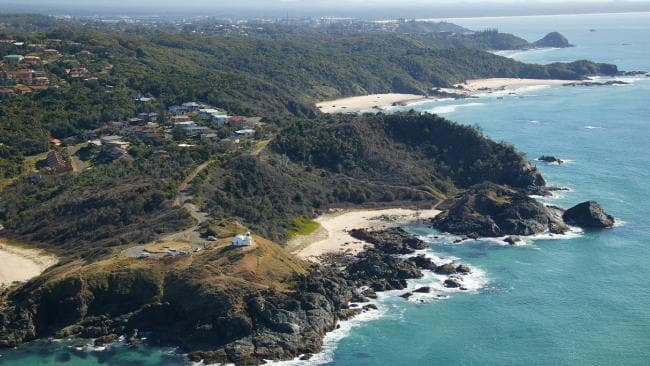An aerial view of the coastline at Port Macquarie in NSW's mid-north coast.