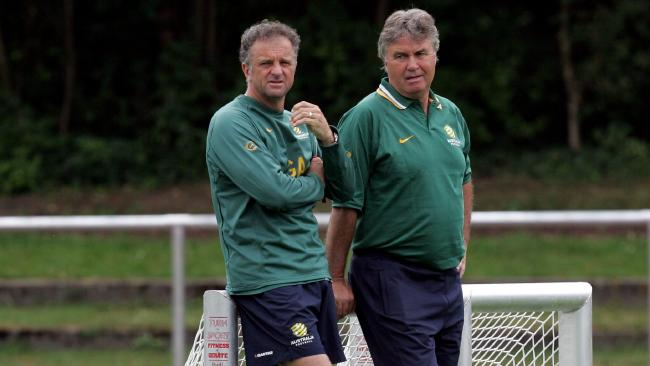 A hairier Arnold with Guus Hiddink at the 2006 World Cup.
