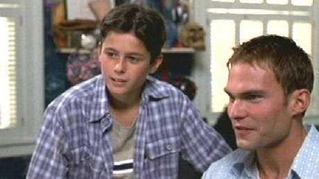 Eli Marienthal with Sean William Scott, who played his brother Stifler.