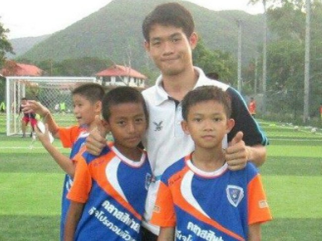 Some of the boys trapped with Ekapol Chanthawong have been playing in the team for years.