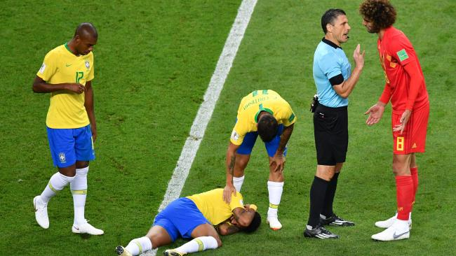 Neymar's acting skills have been on show all tournament.