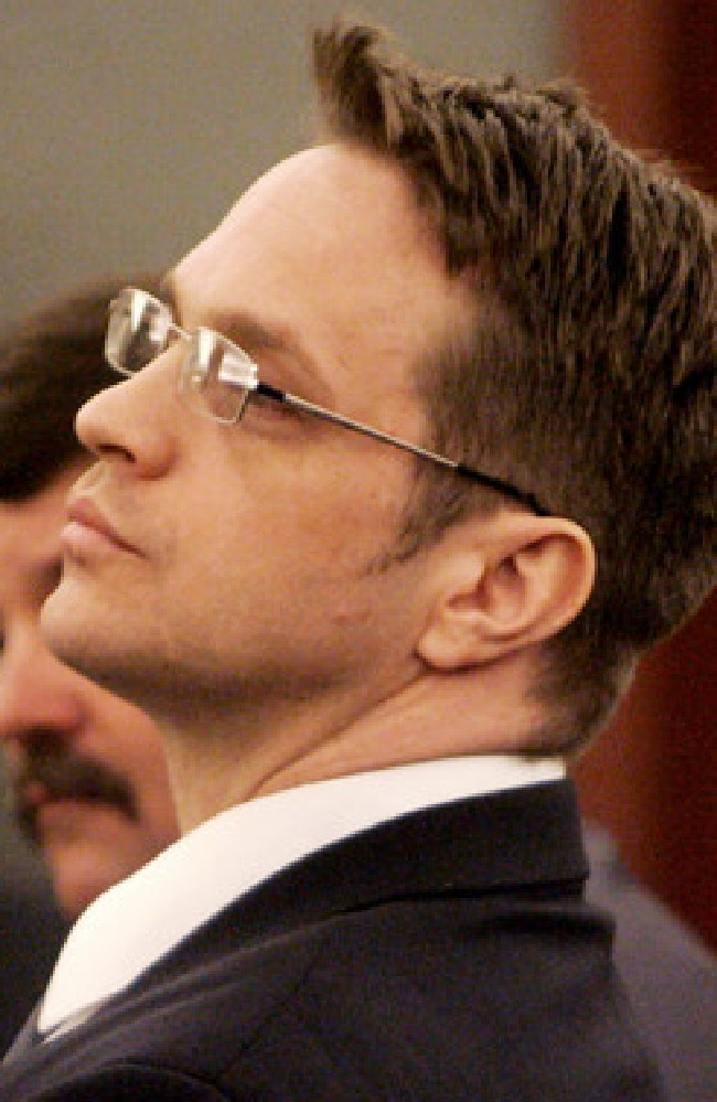 Scott Raymond Dozier, pictured at his 2005 trial for the murder of Jasen 'Griffen' Green, is set to die by lethal injection in Nevada on July 11. Picture: Supplied