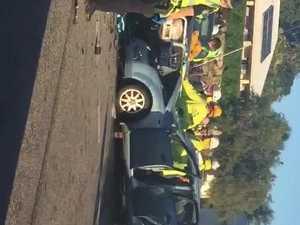 Eimeo three-car crash