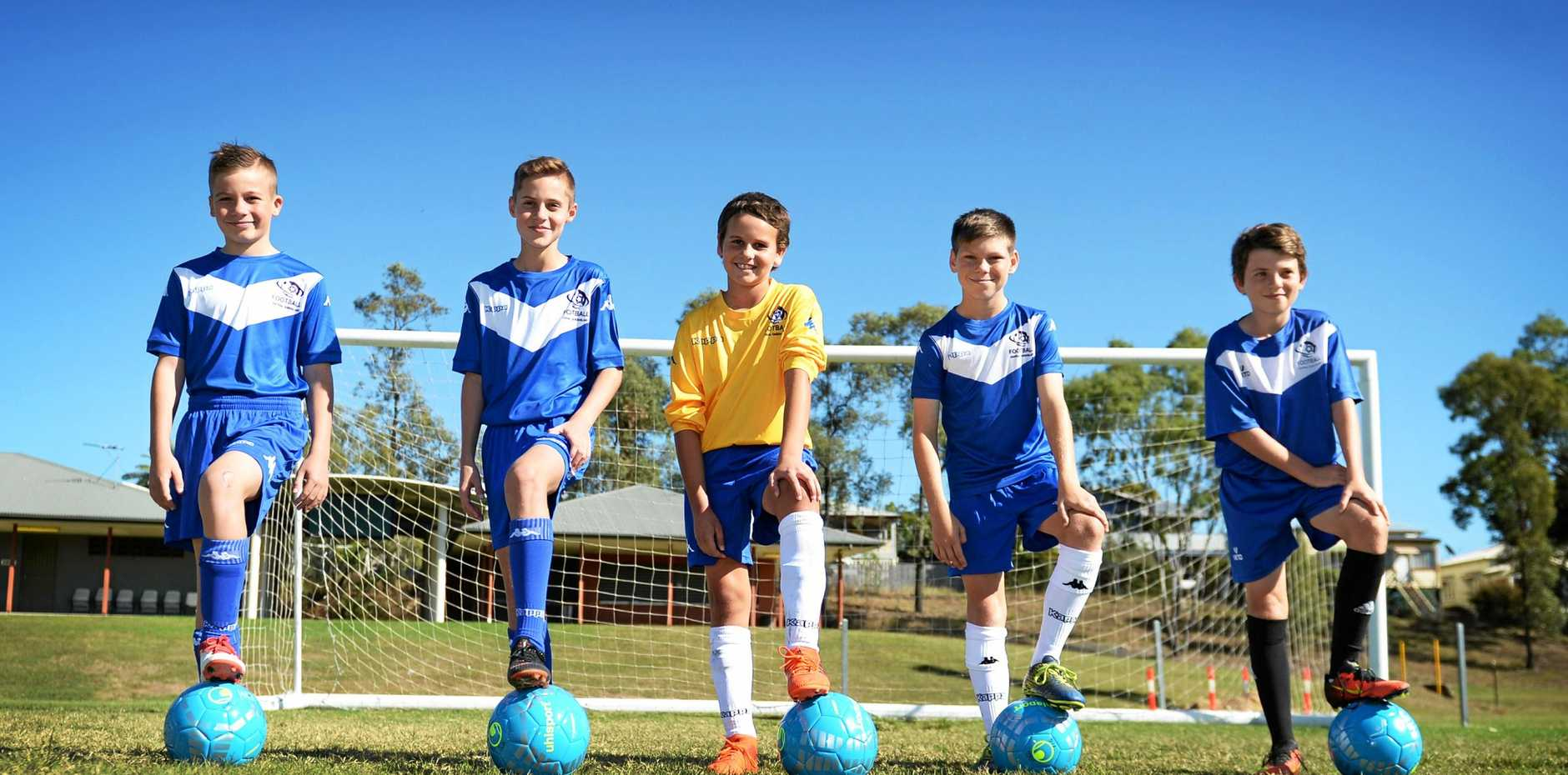 YOUNG GUNS: Charlie Hemmings, Ryley Bell, Xavier Kooistra, Ben Tucker and Tyler Wetzler will be among the players representing Central Queensland at the inaugural Football Queensland Community Cup in Mackay..