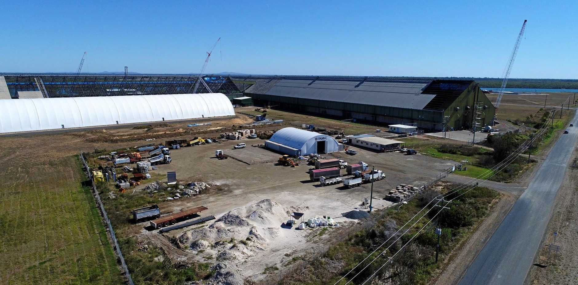 UPGRADES: The Bundaberg Port sugar terminals are in the process of getting new roofs.
