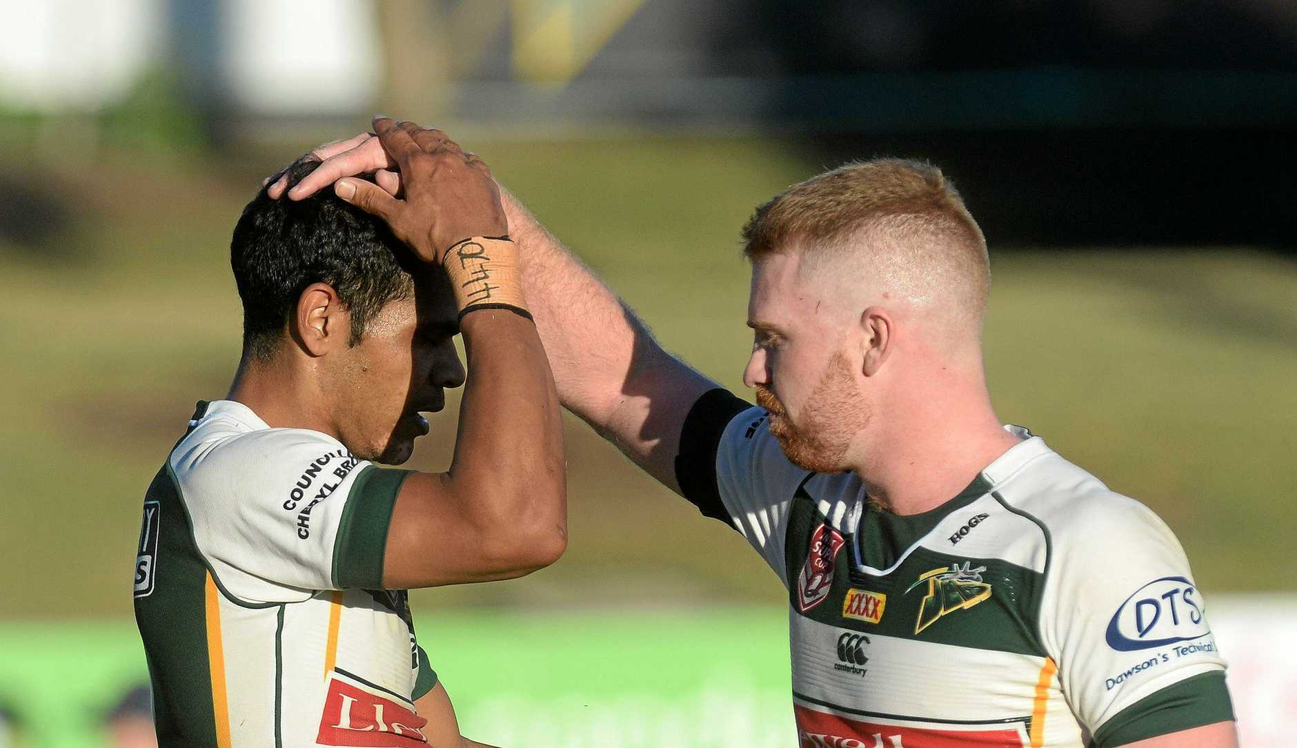 Jets players Michael Purcell and Chris Ash were among the line-up of Ipswich players to score tries in their team's crushing win over the Mackay Cutters.