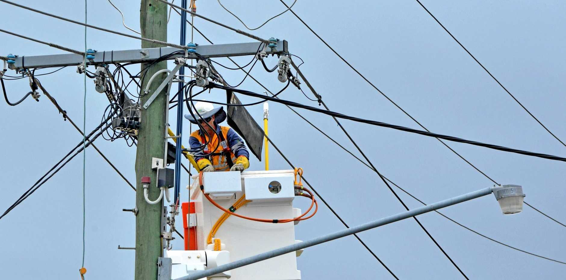 OUTAGE: Energex were out this morning restoring power to thousands of homes across the Sunshine Coast after wild wind tore down branches. FILE PHOTO
