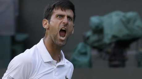 Novak Djokovic was not amused.