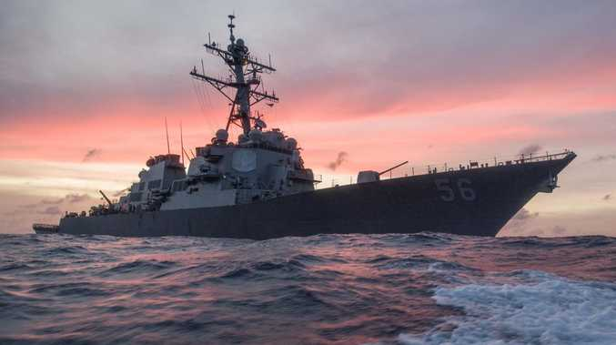The USS John S. McCain conducts a patrol in the South China Sea while supporting security efforts in the region. Picture: USN