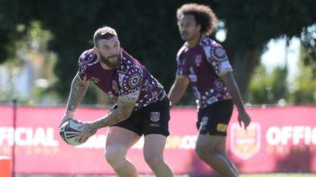 McGuire was able to return to training after sitting out for a period. Pic Peter Wallis