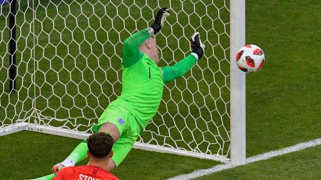 England's goalkeeper Jordan Pickford was a brick wall and stopped everything that came his way.