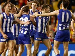 North Melbourne coach's stunning post-match spray