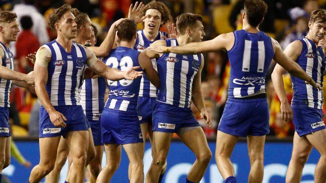 North Melbourne enjoyed a big win over the Gold Coast. Picture: Getty Images