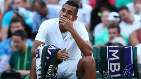 It was typical Nick Kyrgios... Controversial behaviour and none of the talent of which we know he is capable. Picture: AFP