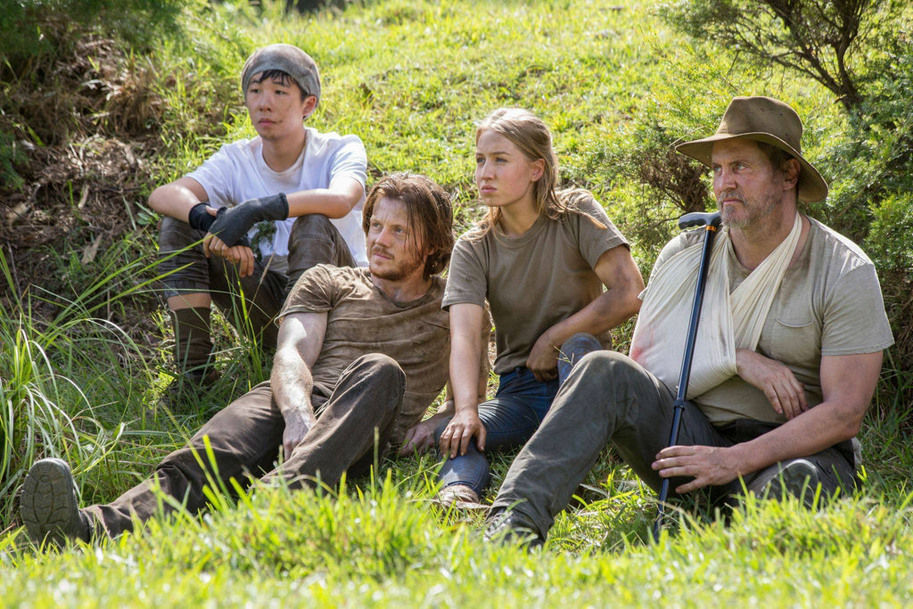 Trystan Go, Zachary Garred, Izzy Stevens and Charles Mesure in a scene from Occupation.