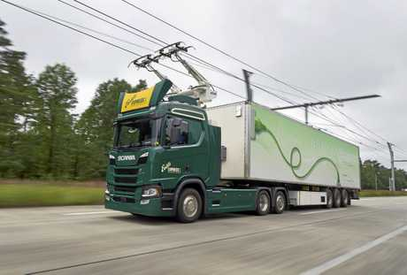 An electrically powered Scania.