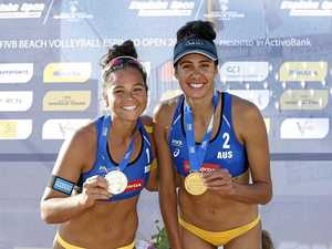 Duo bounces back with gold