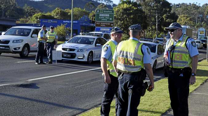 A high visibility police stop in Coffs Harbour.