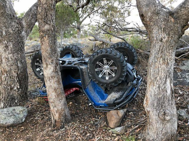 A man in his 70s was taken to hospital after a quad bike crash on a rural property near Tenterfield.
