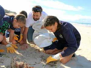 Coast students lead the way in debris clean-up